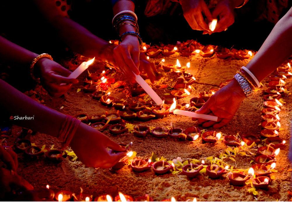 Photo in Random #light #durgapujo #festival #lamps