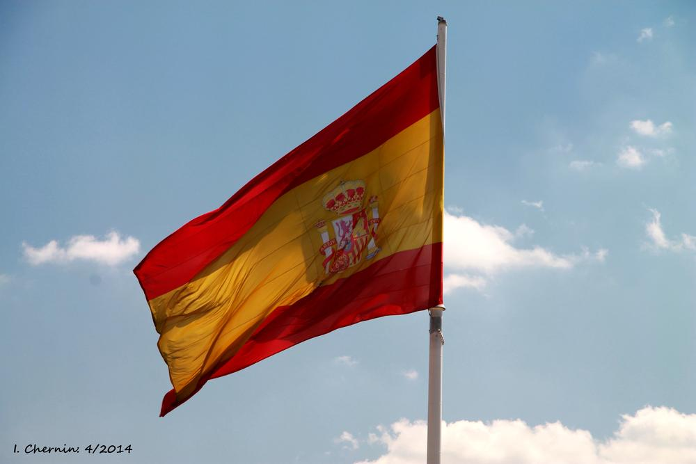 Photo in Street Photography #madrid #spain #street photography #spanish flag