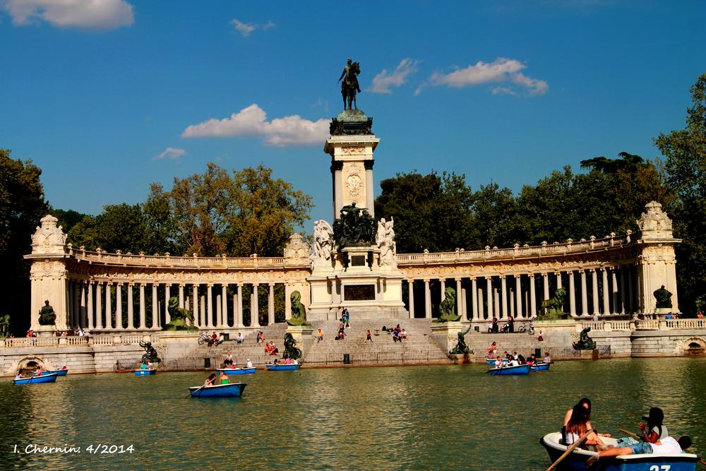 Photo in Cityscape #madrid #spain #cityscape #street photography #lagoon #park #travel
