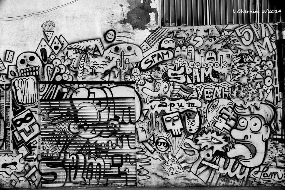 b&w grafitti by ichernin