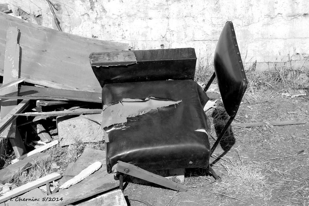 Photo in Black and White #santiago #chile #black and white #junk #discarded #garbage
