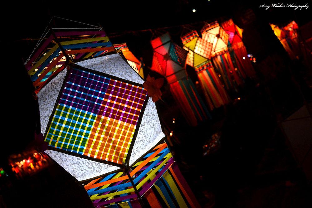 Colourful Traditional lantern. by surajthakoor
