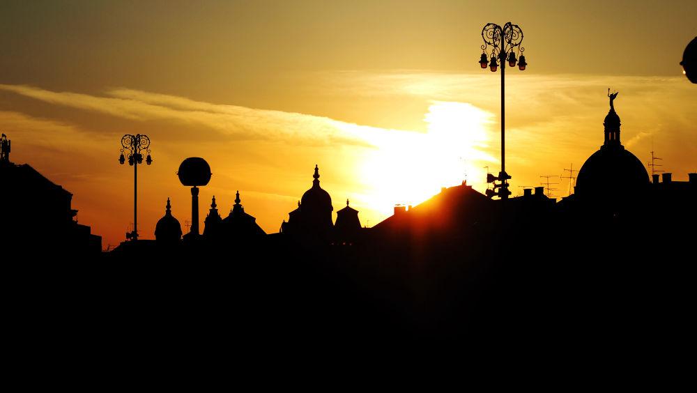 zagreb in sunset.jpg by DuskoKovacic