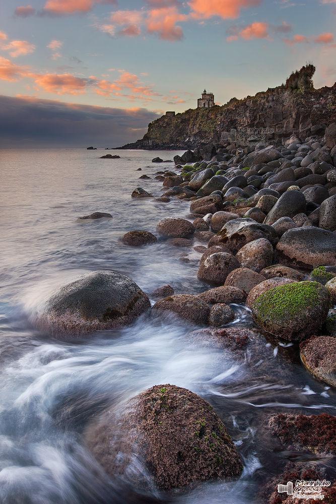 Photo in Landscape #mare #sicilia #turismo #alba