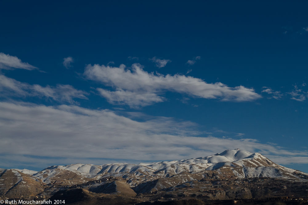 Photo in Landscape #lebanon #mountains #snow #winter #faraya #faqra #sky #clouds