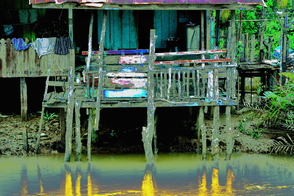 My house by the klongs. by Julio Harahap
