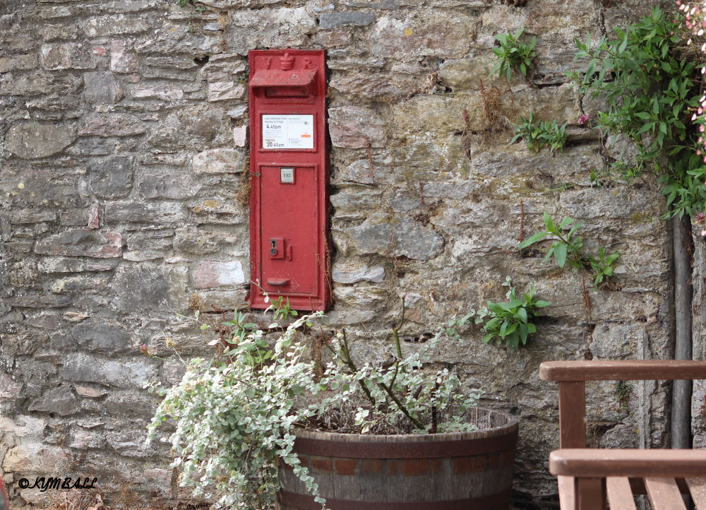 POST BOX IN WALL by kymball58