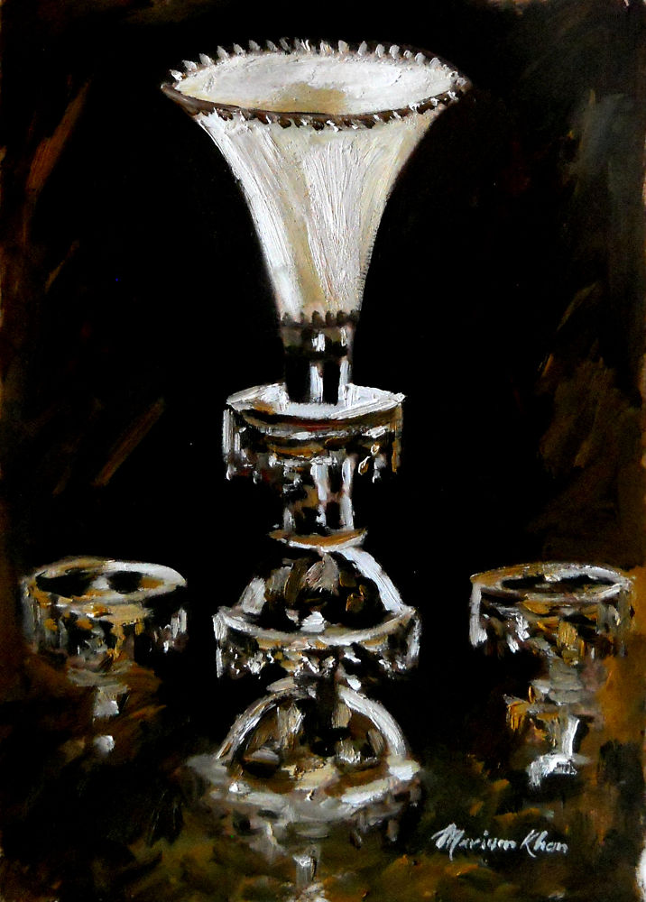 SILVER CANDLE STAND. by khan333marium