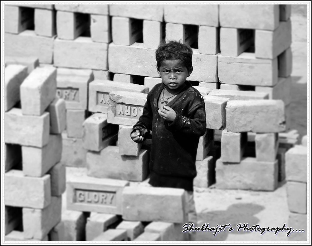 Life in a brick's factory by Shubhajit Ghosh
