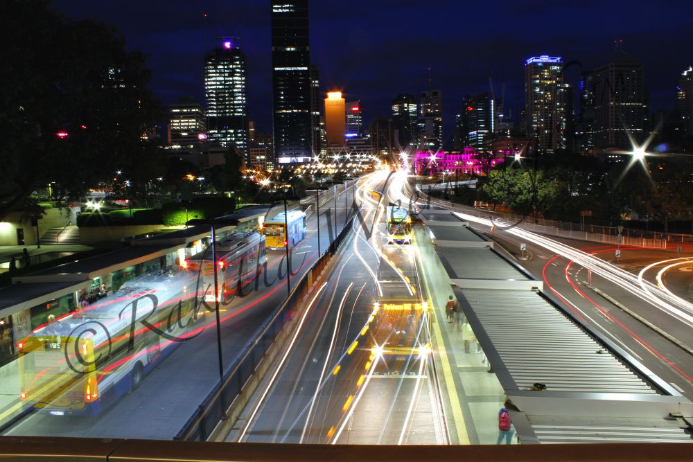 busy night in brisbane by Rakitha Gayan C. Perera