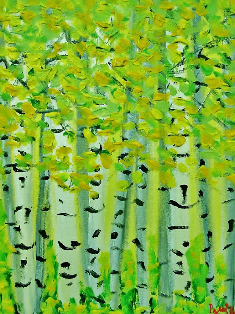 IMG_0002  birch trees painting by paul crimi. by paulcrimi178
