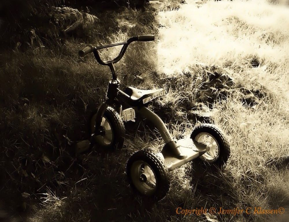 Tricycle. Black and White. by jenklassen