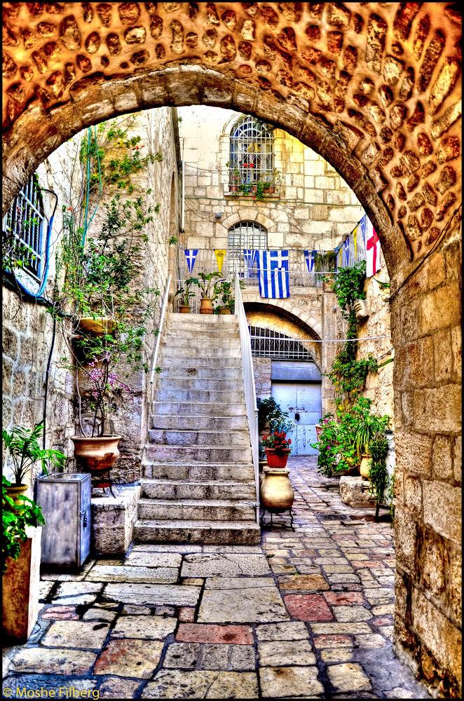 Greece in the back yard in Jerusalem by Moshe Filberg
