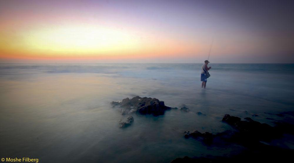 somting fishing by Moshe Filberg
