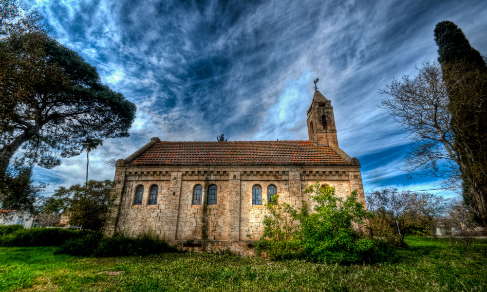 As mysterious church by Moshe Filberg