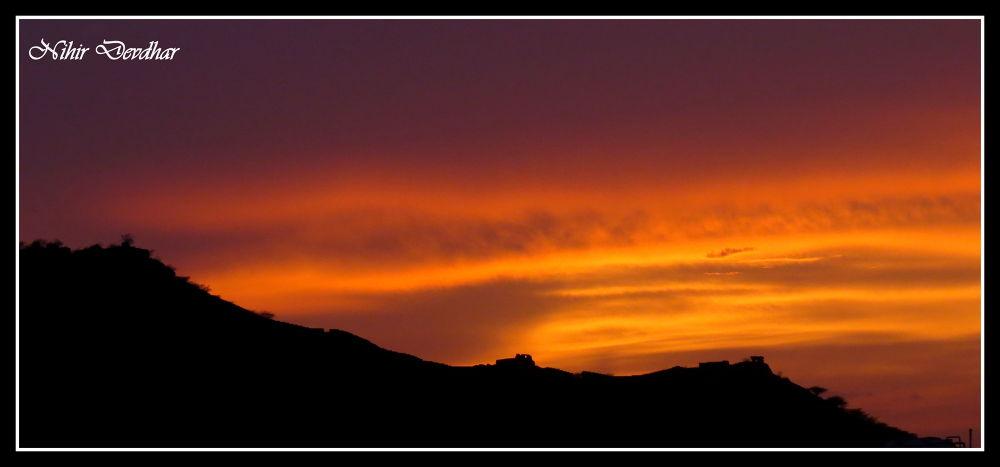 sunset.... by Nihir J Devdhar
