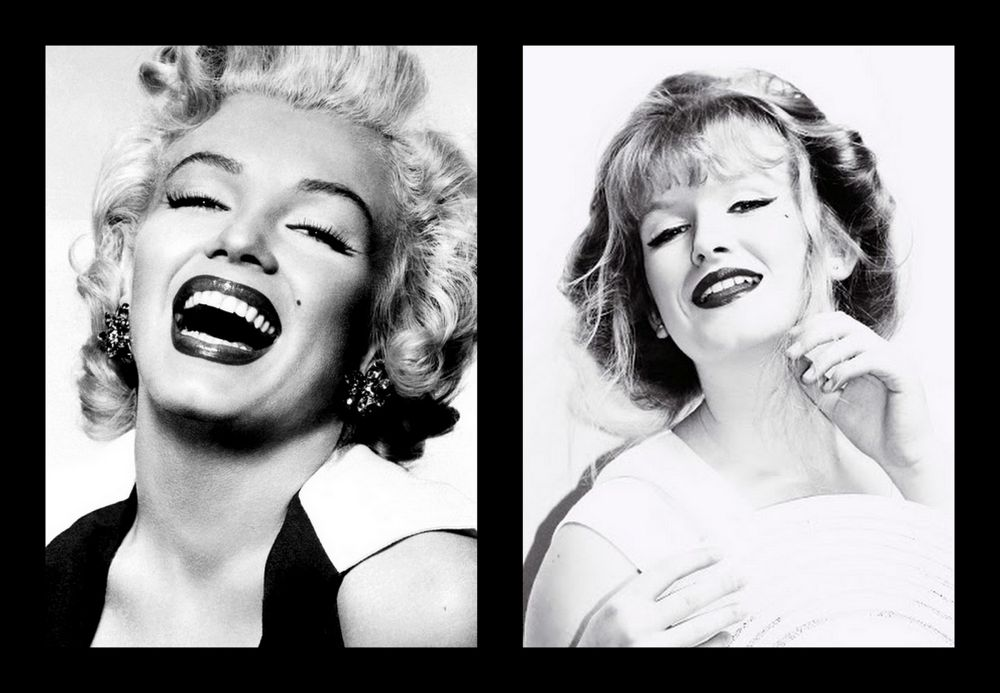 re edited!Marilyn and I just having a Laugh by briahnapatterson