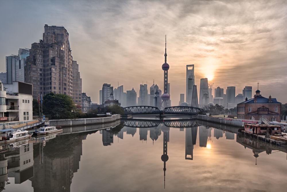 Shanghai Dawn by William Yu Photography