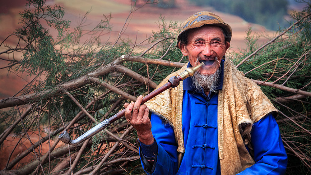 A farmer at Red Land by William Yu Photography