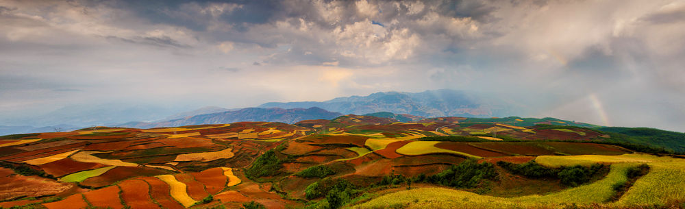 The Pano of Red Land by William Yu Photography