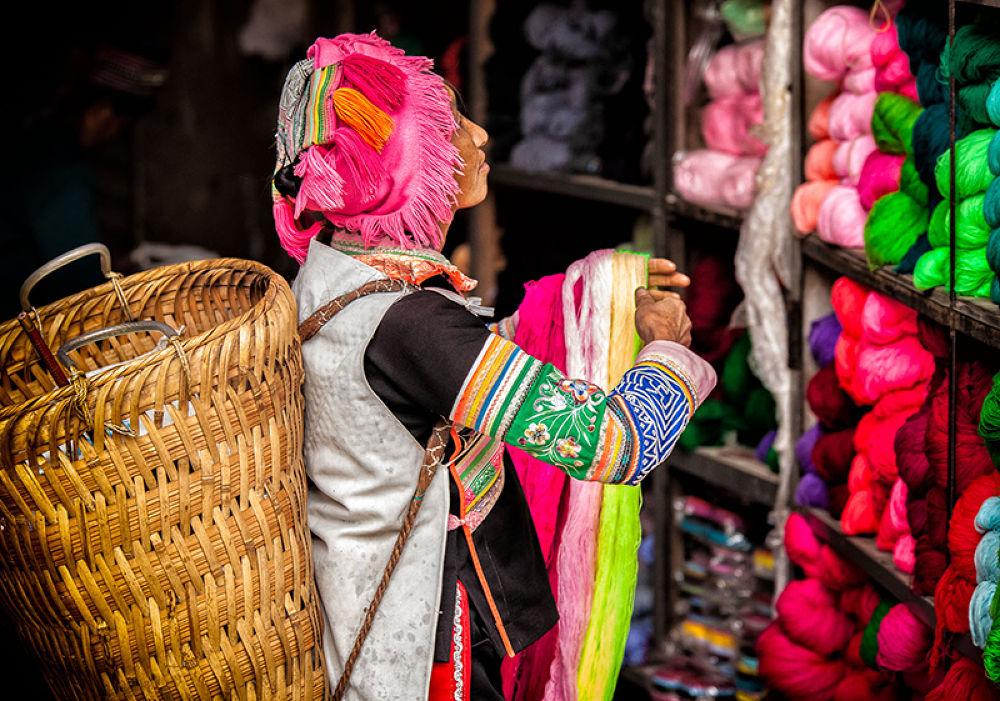 Selecting Yarns by William Yu Photography