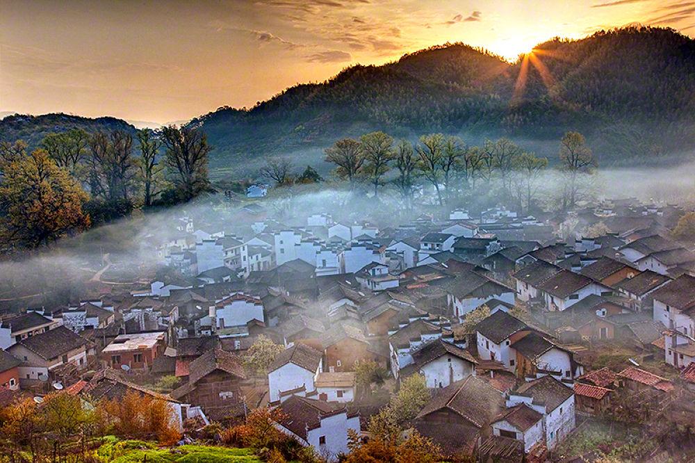 Village Sunrise by William Yu Photography