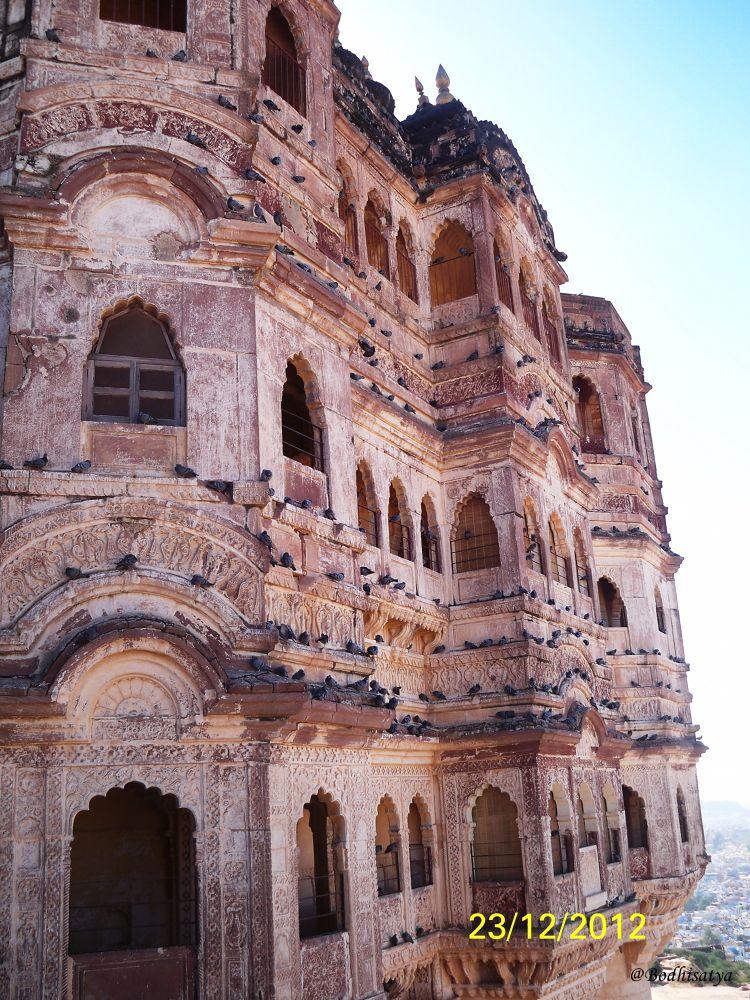 One portion of Mehrangarh Fort(Inda,Rajasthan) by bodhisatya