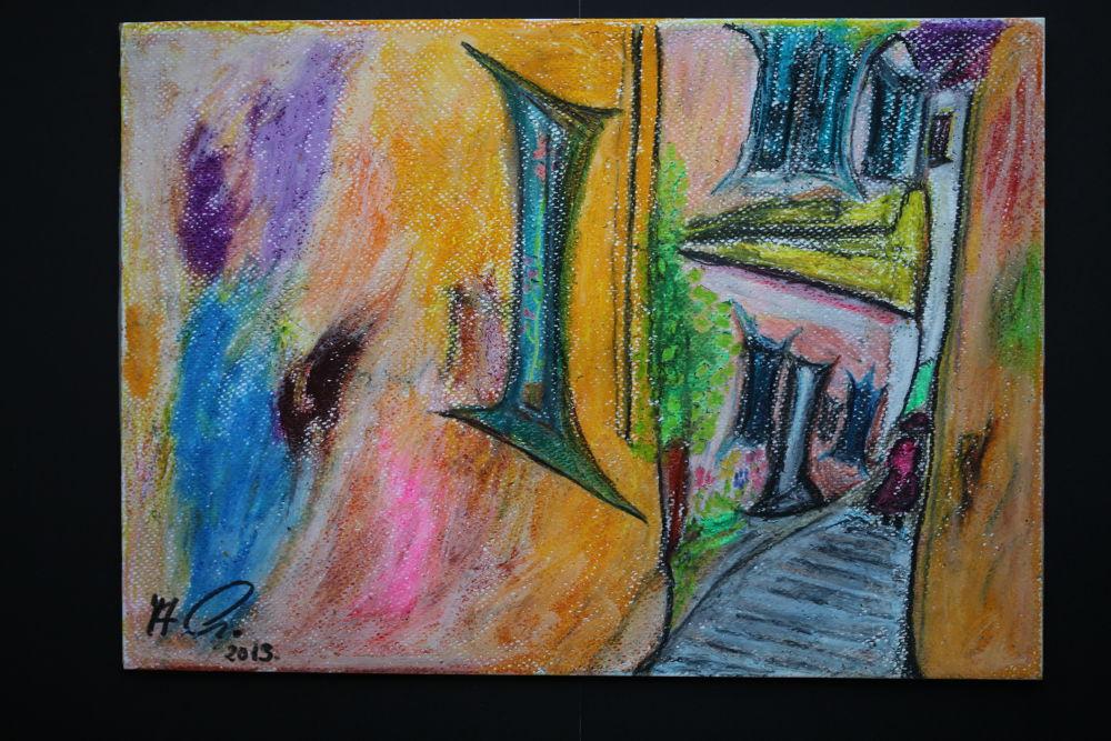 IMG_0138 Old Town - Chania . Kriti. Greece. Andrzej Goszcz Fine Art , Pastels drawing. by awgoszcz