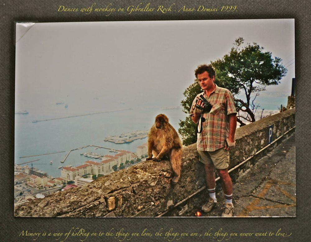 Dances with monkeys on Gillartar Rock. Anno Domini 1999. by awgoszcz