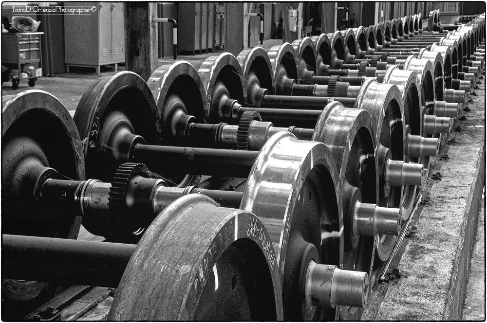 train wheels by Ivano D'Ortenzio