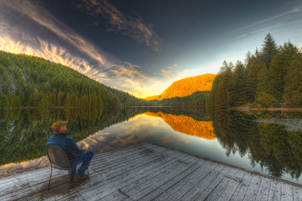 Evan at Loon Lake by Evan Spellman