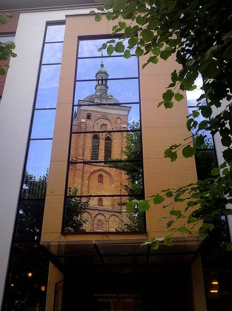 Reflex - Church of St. Bartholomew Gdańsk, Poland by Romanowicz
