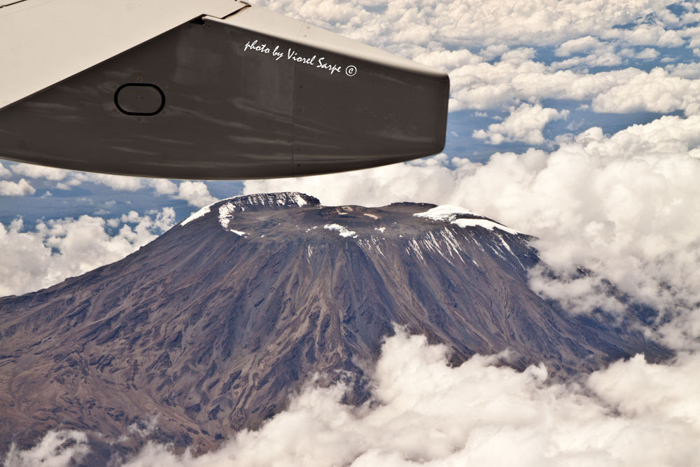 Flying over Kilimanjaro by viorelsarpe