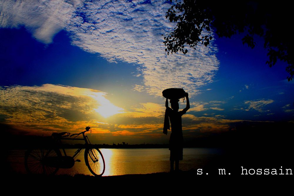 neela asman(blue sky) ! by skmanwar2013