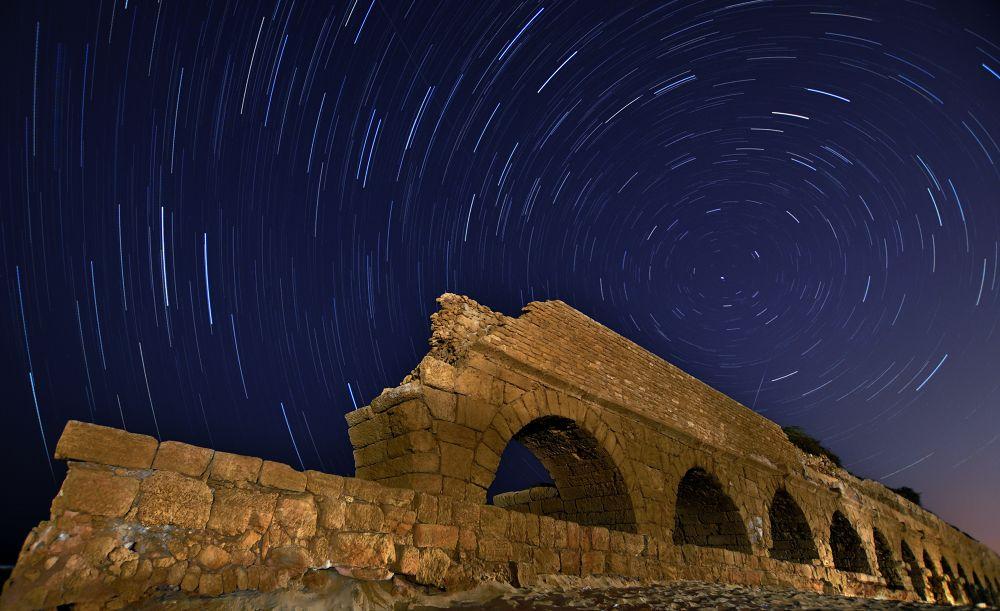 Caesarea Night by eldadpaz