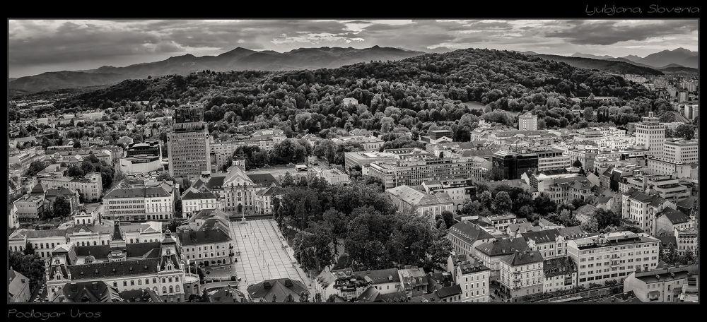 Capital of Slovenia - Ljubljana by Uros Podlogar