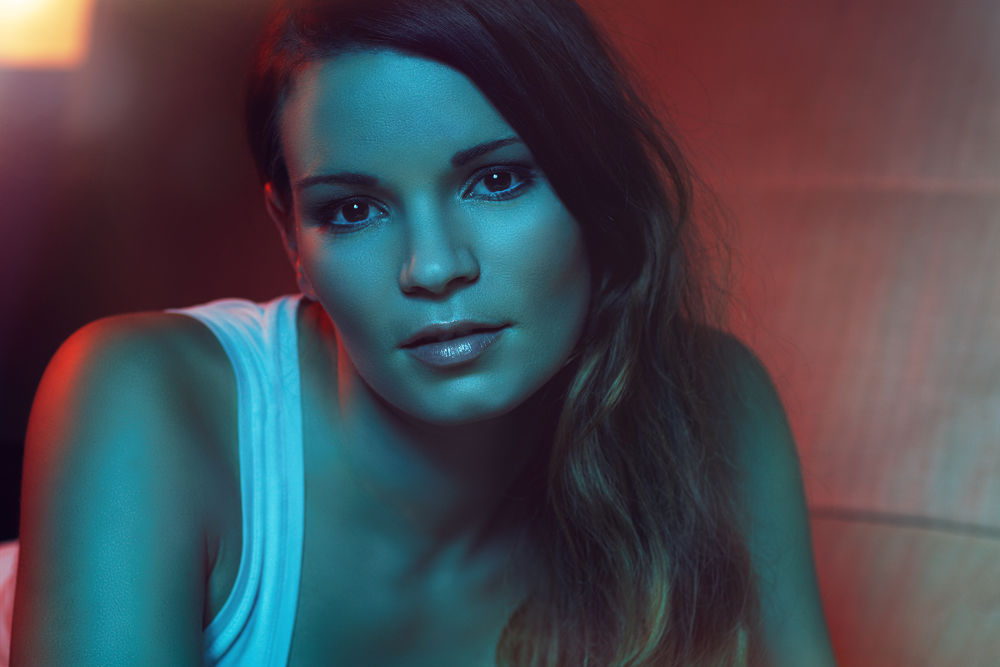 Photo in Portrait #bi color #model #beauty #strobist #valentin zwick
