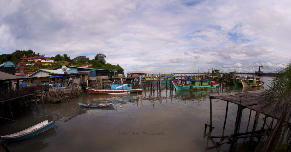 Serenity Of A Fishing Village by erwinray2912