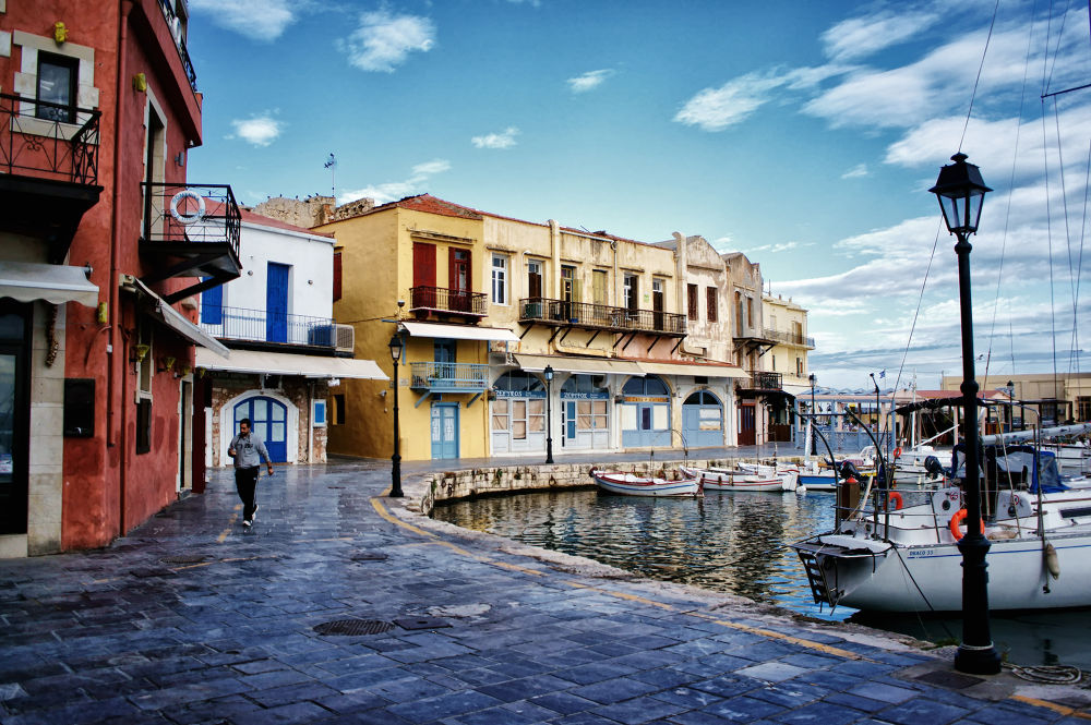Colours of the Venetian Port by Spyros Papaspyropoulos