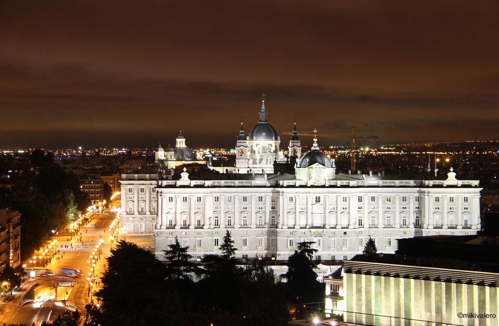 Photo in Random #royal palace #palacio real #madrid #spain #españa #night #ypa2013