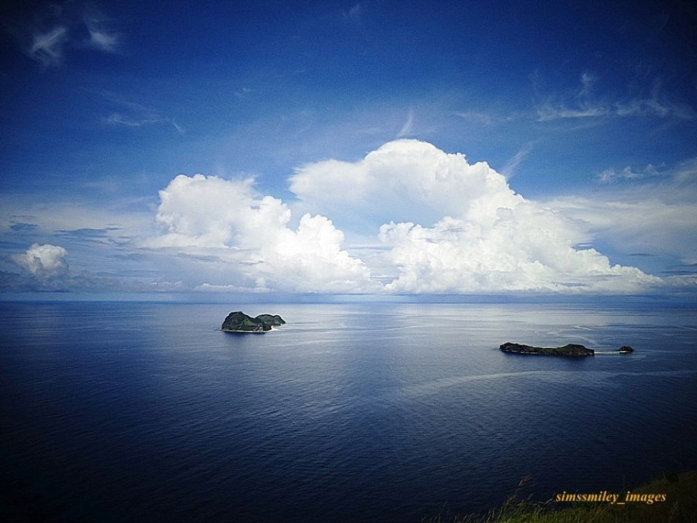 Capones Island at the right side and Camara Island at the left side..in San Antonio Zambales, Phils. by simssmiley