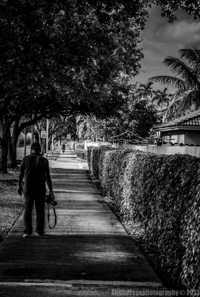 Photo in Black and White #walking