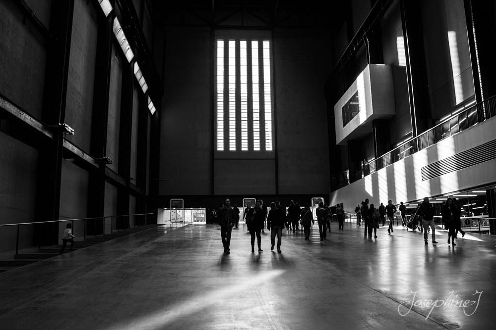 Photo in Black and White #black & white #london #tate #shadows #people
