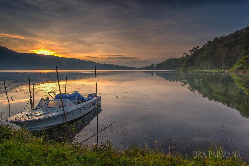 Photo in Landscape #boat #lake #landscape