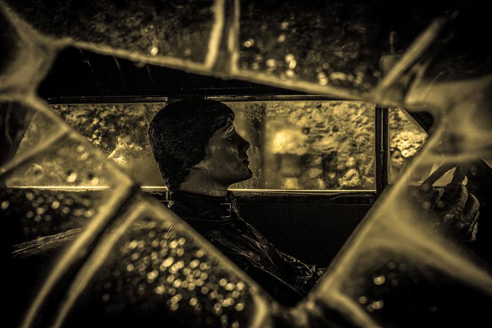 Photo in Random #james dean #cars #art #cadillac #window shield