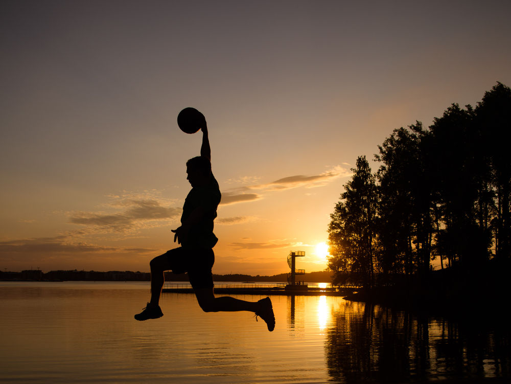 Photo in Landscape #basketball #dunking