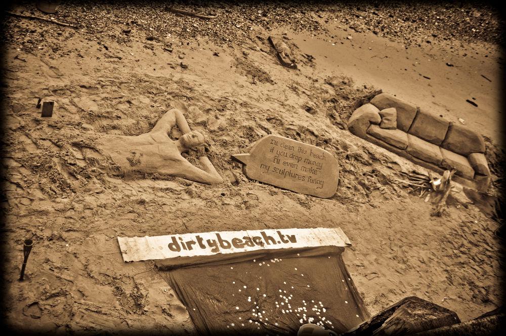 Dirty beach by Gabriella Szekely