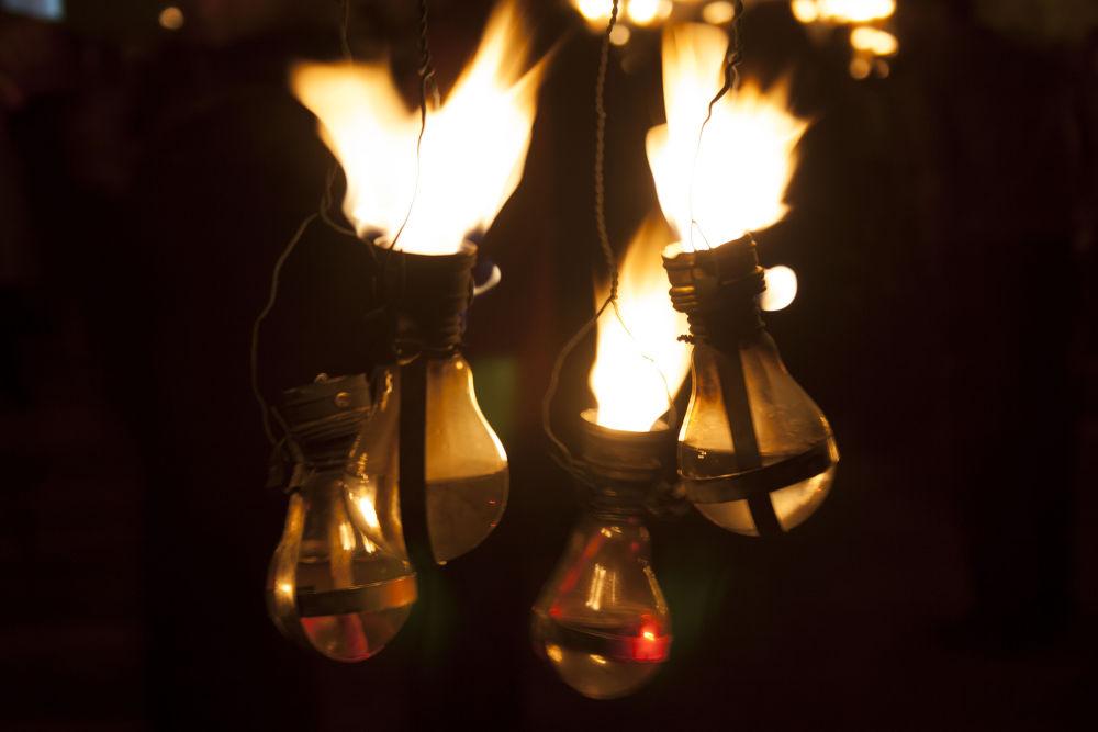 Burning fire by Gabriella Szekely