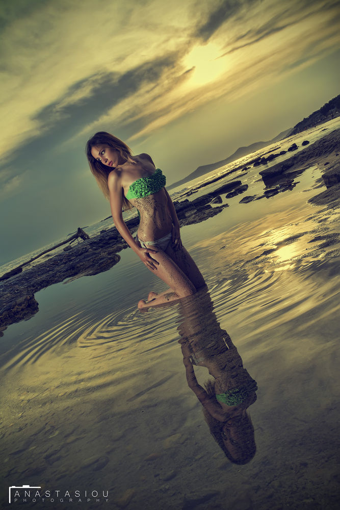 Girl at the sea  by Anastasiou Photography