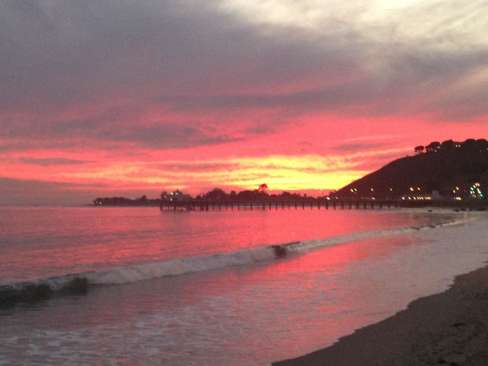Photo in Sea and Sand #carbon beach fire sunset n